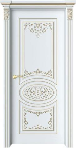 Дверь Шарм 1 Ажур патина золото