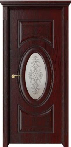 Межкомнатная дверь Симфония  с черной патиной