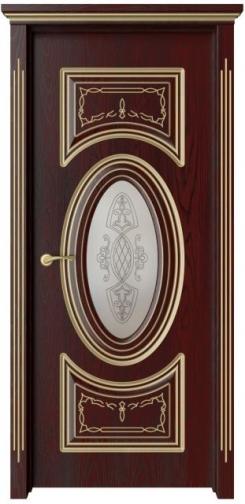 Межкомнатная дверь Симфония  с золотой патиной