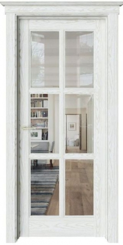 Межкомнатная дверь Соната Sonata S12 прозрачное стекло