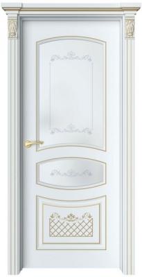 Дверь Адель 4 Ажур патина золото