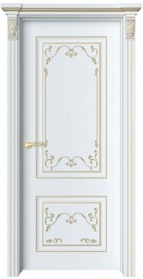 Дверь Лоран 1 Ажур патина золото