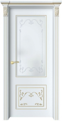 Дверь Лоран 2 Ажур патина золото