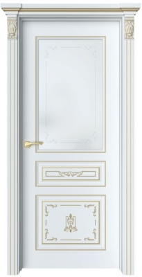 Дверь Мартен 3 Ажур патина золото