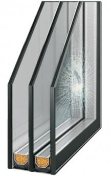 Антивандальный стеклопакет триплекс